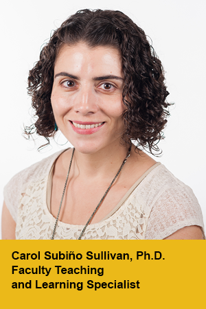 Carol Subino Sullivan, Faculty Teaching and Learning Specialist